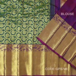 Gadwal Handwoven Pure Silk Saree With Broad Border-GPS749