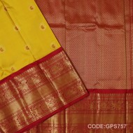 Gadwal Handwoven Pure Silk Saree With Broad Border-GPS757