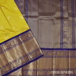 Gadwal Handwoven Pure Silk Saree With Broad Border-GPS759