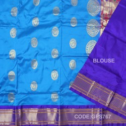 Gadwal Handwoven Pure Silk Saree-GPS767
