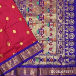 Gadwal Handwoven Pure Silk Saree-GPS771