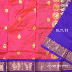 Gadwal Handwoven Pure Silk Saree-GPS773