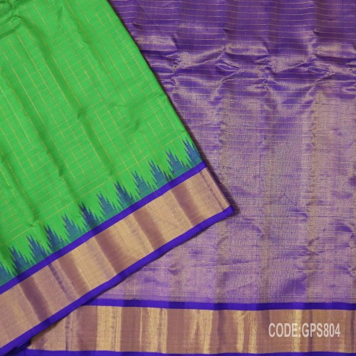 Gadwal Handwoven Pure Silk Saree-GPS804
