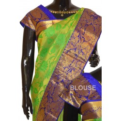 Kanchi Pattu Brocade Half Fine Zari Long Border