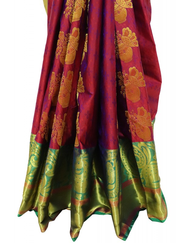 Kanchi Pattu Half Fine Silk Saree