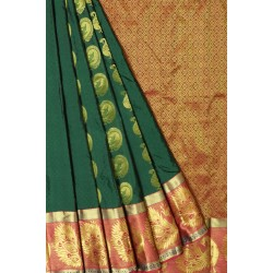 KANCHI PATTU HALF FINE SILK SAREE 40%OFF