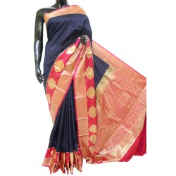 Soft Silk Saree Half Mix Zari