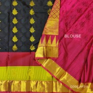 Light Weight Pattu Saree with Black&Maroon Combination-HF210