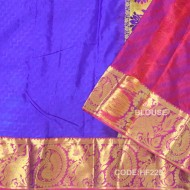 Light Weight Pattu Saree with Blue&Pink Combination-HF225