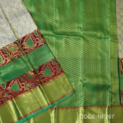 Half Fine Silk Sarees With Bridal style-HF267