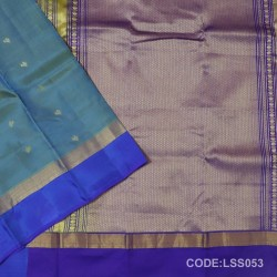 Beautifull Soft Silk Saree with Flower Designed Motifs-LSS053