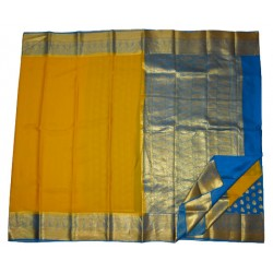Pure Crape Silk Saree With Kanchi Border Partly Style