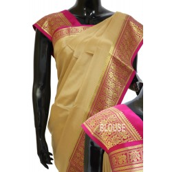 Crepe Silk Plain with Kanchi Border -CP06