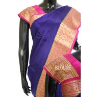 Crepe Silk Plain with Kanchi Border