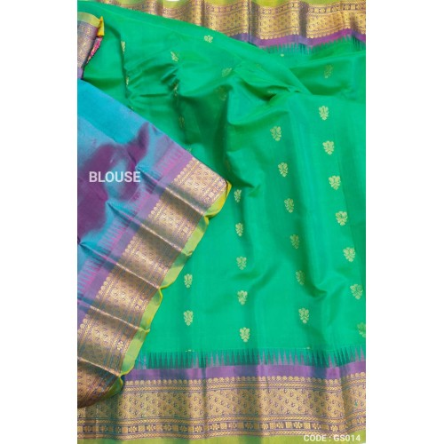 Gadwal Sico with Attached Silk Blouse -GS 014