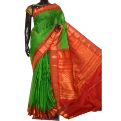 Gadwal Pure Sico with Attached Pure Silk Blouse & Pallu