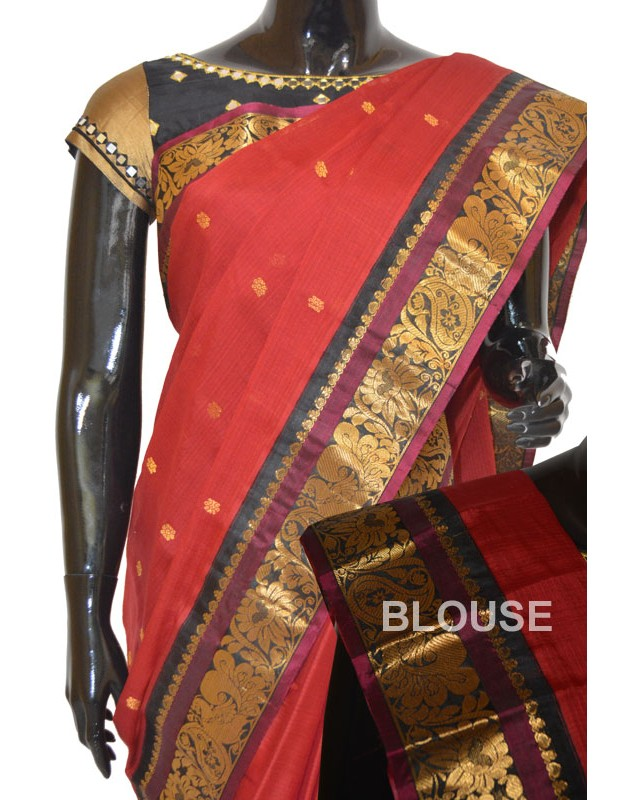 Gadwal Sico Full Butta With Rich Border & Pallu