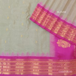 Gadwal Pure Sico check with Kuttu Temple Border-GS162
