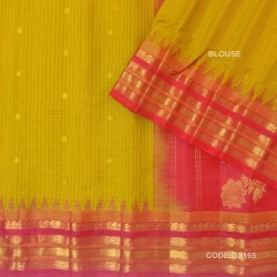 Gadwal Pure Sico check with Kuttu Temple Border-GS165