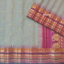 Gadwal Pure Sico check with Kuttu Temple Border-GS171