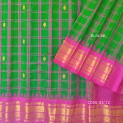 Gadwal Pure Sico check with Kuttu Temple Border-GS172