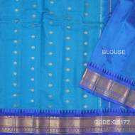Gadwal Sico with Attached Silk Blouse-GS177