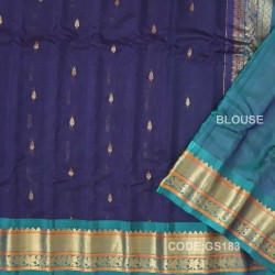 Gadwal Sico with Attached Silk Blouse-GS183