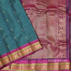 Gadwal Sico with Attached Silk Blouse-GS184