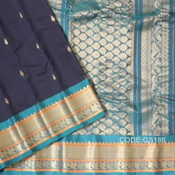 Gadwal Sico with Attached Silk Blouse-GS186