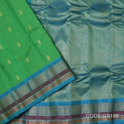 Gadwal Sico with Attached Silk Blouse-GS189