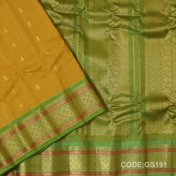 Gadwal Sico with Attached Silk Blouse-GS191