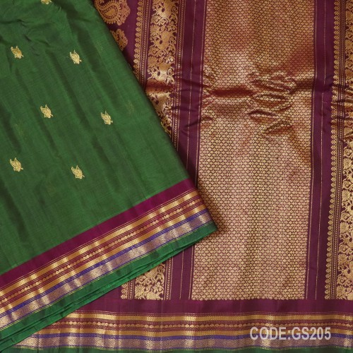 Gadwal Sico with Attached Silk Blouse-GS205