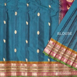 Gadwal Sico with Attached Silk Blouse-GS206