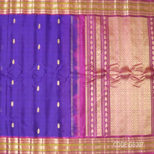 Gadwal Sico with Attached Silk Blouse-GS207