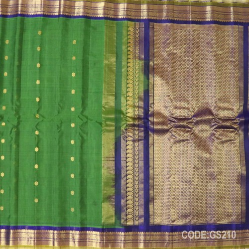 Gadwal Sico with Attached Silk Blouse-GS210