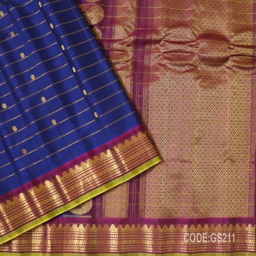 Gadwal Sico with Attached Silk Blouse-GS211