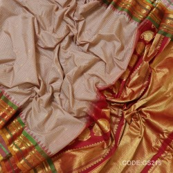 Gadwal Sico Pure Handwoven with Onion Pink and Red-GS215