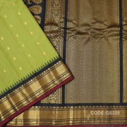 Gadwal Sico Pure Handwoven with Green and Black-GS229