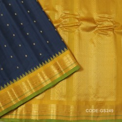 Gadwal Sico Pure Handwoven with Grey and Yellow-GS249