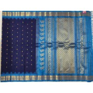 Gadwal Pure Handwoven Sico Kuttu Temple border