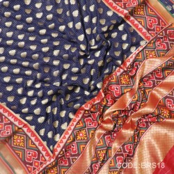 Banaras Pure Georgette with Paithani Border-BRS18