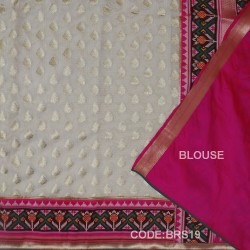 Banarasi  Pure Georgette with Paithani Border-BRS19