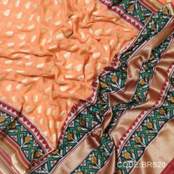 Banarasi Pure Georgette with Paithani Border-BRS20