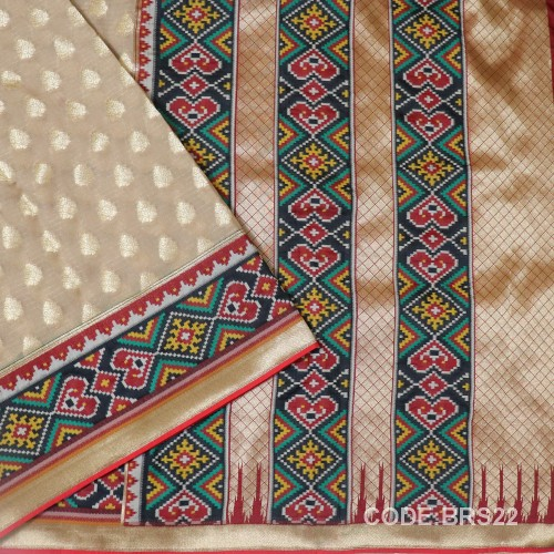 Banarasi Pure Georgette with Paithani Border-BRS22