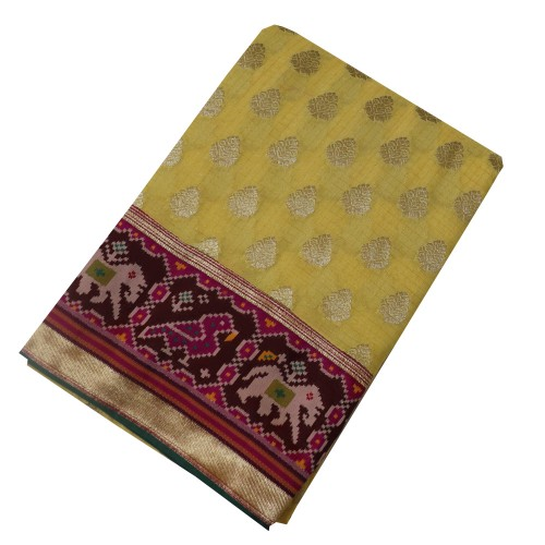 Banarasi Pure Georgette with Paithani Border-BRS23