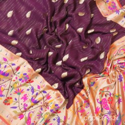 Banarasi Pure Georgette with Paithani Border-BRS24