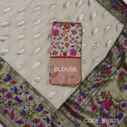 Banarasi Pure Georgette with Paithani Border-BRS25
