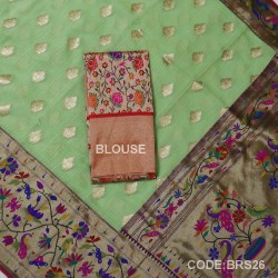 Banarasi Pure Georgette with Paithani Border-BRS26
