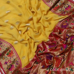 Banarasi Pure Georgette with Paithani Border-BRS27