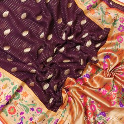 Banarasi Pure Georgette with Paithani Border-BRS32
